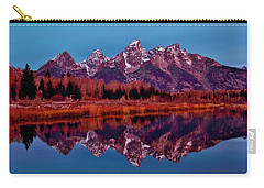 Carry-all Pouch featuring the photograph Early Morning At The Tetons by Benjamin Yeager