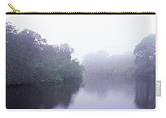 Early Morning Fog On A Creek, South Carry-all Pouch by Panoramic Images