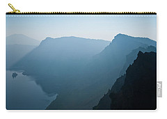 Carry-all Pouch featuring the photograph Early Morning Fog Over Crater Lake by Jeff Goulden