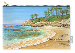 Carry-all Pouch featuring the painting Early Morning Laguna by Jane Girardot