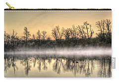 Carry-all Pouch featuring the photograph Early Morning Mist by Lynn Geoffroy