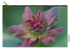 Early Spring Bee Balm Bud Carry-all Pouch by Denyse Duhaime