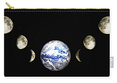 Earth And Phases Of The Moon Carry-all Pouch by Bob Orsillo