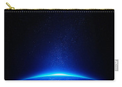 Earth At Night With City Lights Carry-all Pouch