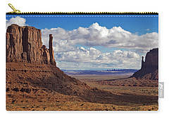 Carry-all Pouch featuring the photograph East And West Mittens by Jerry Fornarotto