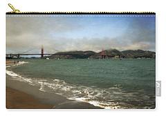 East Beach And Golden Gate Carry-all Pouch by Michelle Calkins
