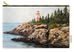 Carry-all Pouch featuring the painting East Quoddy Head Light by Lee Piper
