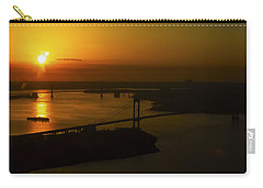 East River Sunrise Carry-all Pouch