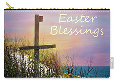 Easter Blessings Cross Carry-all Pouch