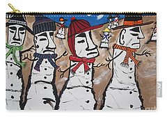 Easter Island Snow Men Carry-all Pouch by Jeffrey Koss