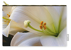 Carry-all Pouch featuring the photograph Easter Lily by Bonnie Willis