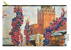 Easter Market At The Moscow Kremlin Carry-all Pouch by Boris Mikhailovich Kustodiev