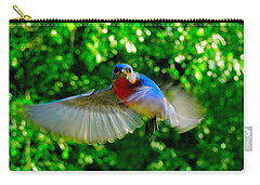 Eastern Bluebird In Flight Carry-all Pouch