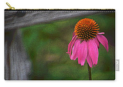 Carry-all Pouch featuring the photograph Echinacea  by Nadalyn Larsen