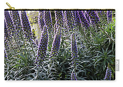 Carry-all Pouch featuring the photograph Echium And Tower by Kate Brown