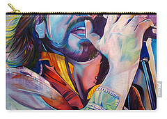 Eddie Vedder In Pink And Blue Carry-all Pouch by Joshua Morton