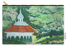 Carry-all Pouch featuring the painting Eden Park Gazebo  Cincinnati Ohio by Diane Pape