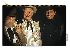 Carry-all Pouch featuring the photograph Edgar Buchanan Chills Wills  Johnny Cash Porch Old Tucson Arizona 1971-2008 by David Lee Guss