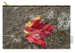 Leaf And Sand Carry-all Pouch by Alana Ranney