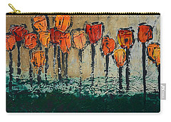 Edgey Tulips Carry-all Pouch by Linda Bailey
