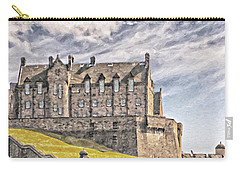 Edinburgh Castle Painting Carry-all Pouch by Antony McAulay