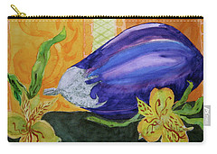 Carry-all Pouch featuring the painting Eggplant And Alstroemeria by Beverley Harper Tinsley