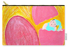 Eggs Carry-all Pouch by Lorna Maza