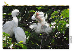Egret Chicks Carry-all Pouch by Ron Davidson