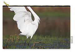 Egret Dancing Carry-all Pouch by Bryan Keil
