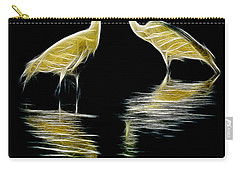 Egret Pair Carry-all Pouch by Jerry Fornarotto