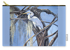 Egret Perch Carry-all Pouch