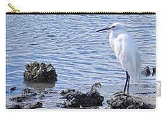 Egret Standing Perfectly Still Carry-all Pouch