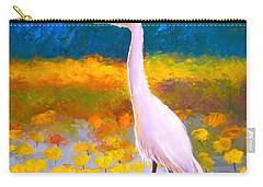 Egret Water Bird Carry-all Pouch by Jan Matson