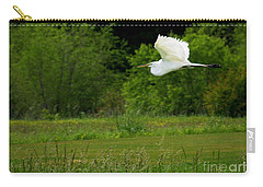 Egret's Flight Carry-all Pouch by Liz Masoner