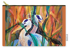 Egrets In Red 2            Carry-all Pouch by Kathy Braud