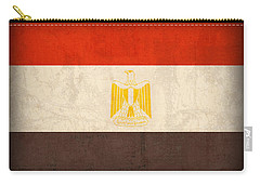 Egypt Flag Distressed Vintage Finish Carry-all Pouch