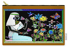 Carry-all Pouch featuring the digital art Egyptian Flower  Garden by Hartmut Jager