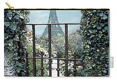 Eiffel Garden In Blue Carry-all Pouch