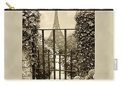 Eiffel Garden Sepia Carry-all Pouch