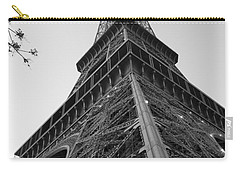 Eiffel Tower In Black And White Carry-all Pouch