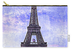 Eiffel Tower Paris Carry-all Pouch by Kathy Churchman