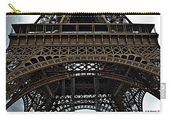 Carry-all Pouch featuring the photograph Eiffel Tower - The Forgotten Names by Allen Sheffield