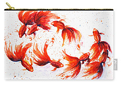 Eight Dancing Goldfish  Carry-all Pouch