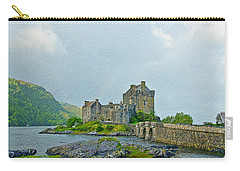 Eilean Donan Castle Textured 2 Carry-all Pouch
