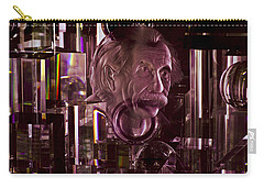 Einstein In Crystal - Purple Carry-all Pouch