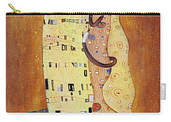 Carry-all Pouch featuring the painting The Smooch by Randol Burns