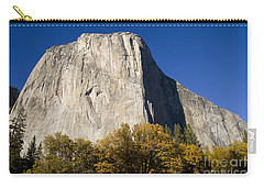 El Capitan In Yosemite National Park Carry-all Pouch by David Millenheft