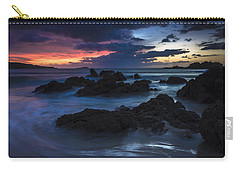 Carry-all Pouch featuring the photograph El Villar Beach Galicia Spain by Pablo Avanzini