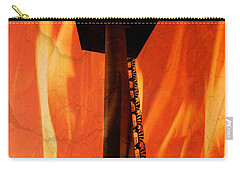Carry-all Pouch featuring the photograph Elastic Concrete Part Two by Sir Josef - Social Critic - ART