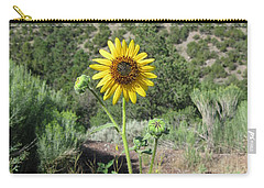 Elated Sunflower Carry-all Pouch